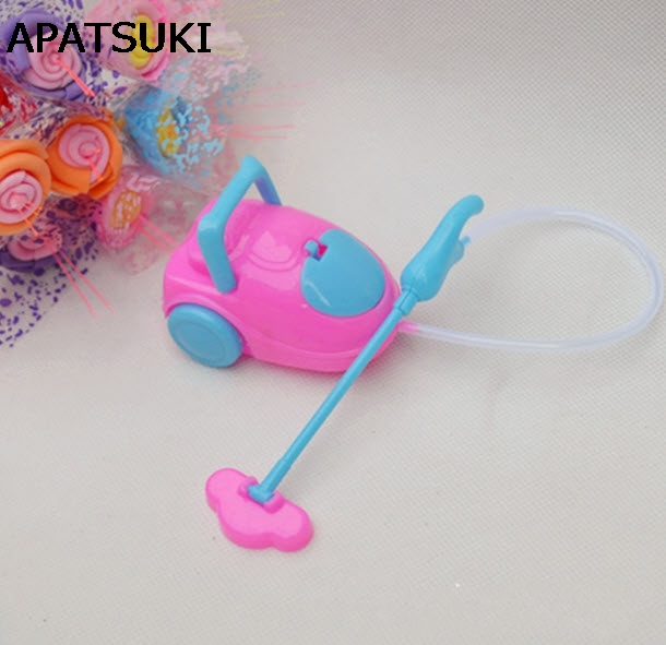 Kids Toy Dollhouse Mini Vacuum Cleaner For Barbie Dolls For Kelly Dolls Children Baby Girl Choose Furniture Doll Accessories