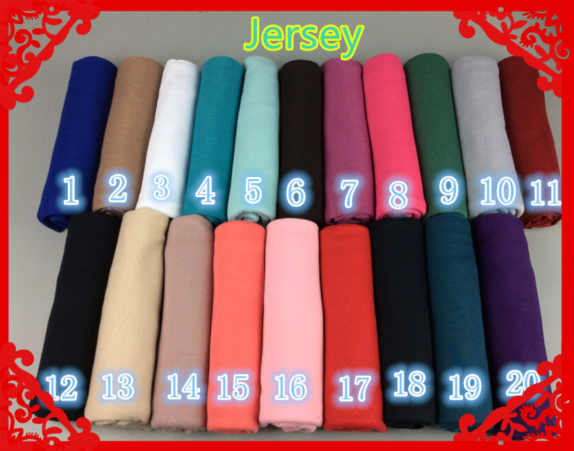 Hot Nice Color High Quality plain elastic jersey shawls stre