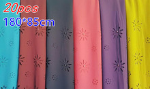 A 22  20pcs Hot sale pearl laser cut bubble chiffon hijab wrap shawl scarf scarves 180*85cm