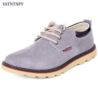 YATATAPY Brand Men Shoes Plus Size 45 48 Big Size Shoes Man Casual Canvas Oxfords Wearable