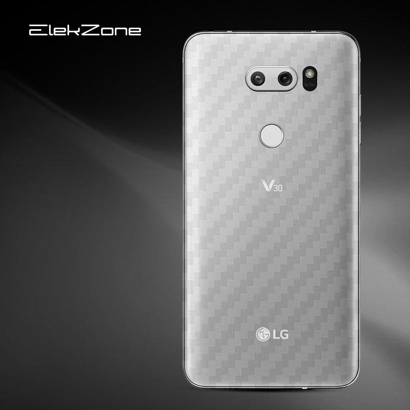 3Pcs For LG G6 Q6 G7 Plus V20 V30 Carbon Fiber Rear Screen Protector For LG G5 V30 Q6 G6  Plus G7 Back Cover Protective Film