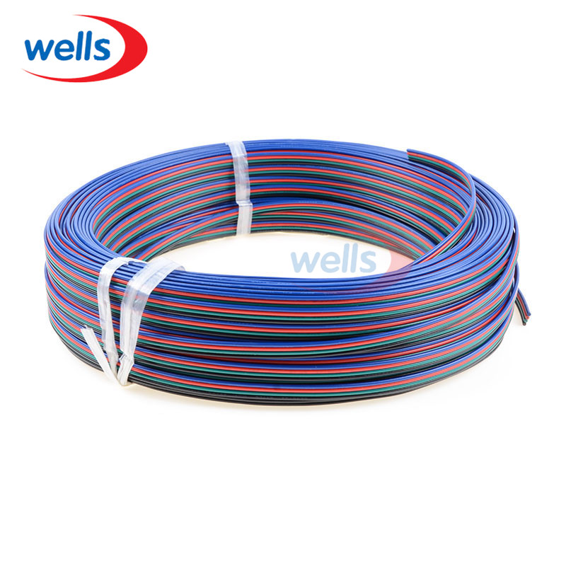 50m long 4pin cable for 5050 3528 RGB color led strip petmax миска цветной металл дизайн 470мл