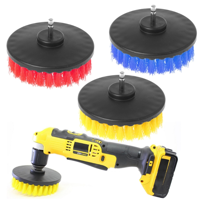 120mm Power Scrub Drill Brush for Cleaning Stone Mable Ceramic tile Wooden floor Plastic Thick carpet Thick Cloth-M19