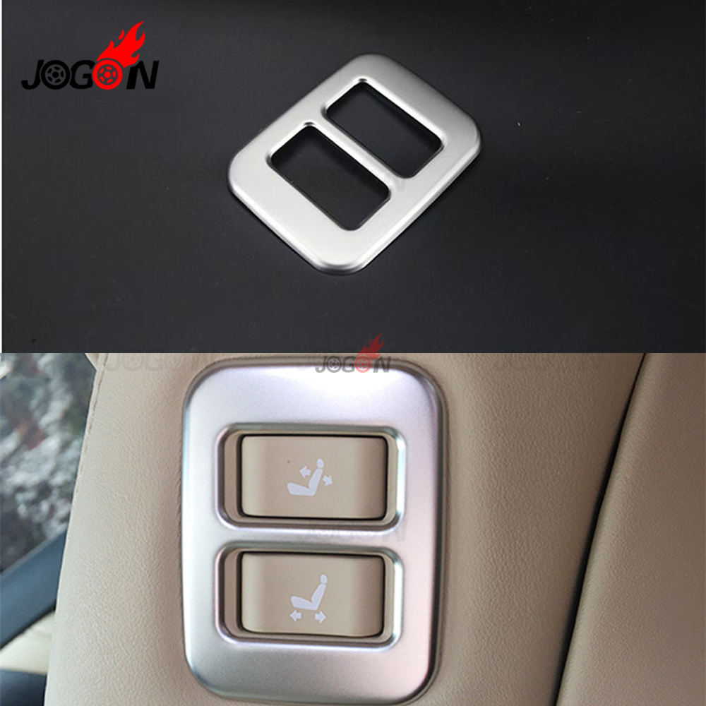 Car Seat Memory Adjustment Button Cover Switch Sticker For Toyota Alphard Vellfire ANH30 2015-2019 Stainless Steel