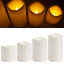Romantic Flameless LED Electronic Candles Light Wedding Scented Wax Home Decor