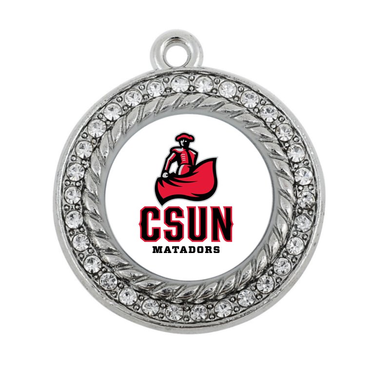 Cal State Northridge Matadors CHARM ANTIQUE SILVER PLATED JEWELRY