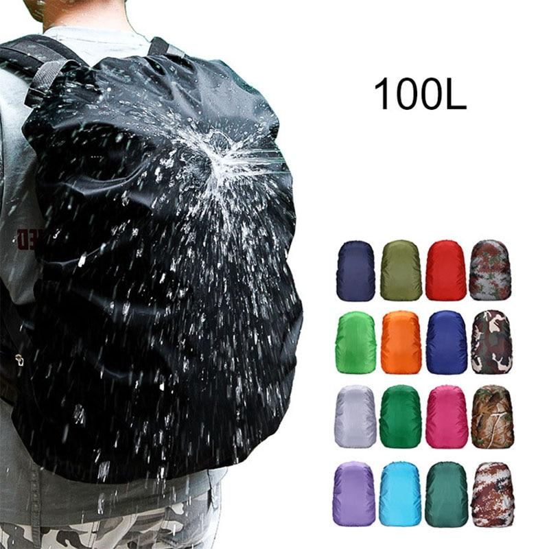 100L Backpack Rain Cover Waterproof Bag Dust Hiking Camping Bags Portable Rucksack Large Military Army Big 90L 95L Men Xa41a