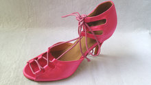 Wholesale Ladies Girls Hot Pink Satin Ballroom Latin Samba Salsa Ceroc Tango Dance Shoes All Size(China)