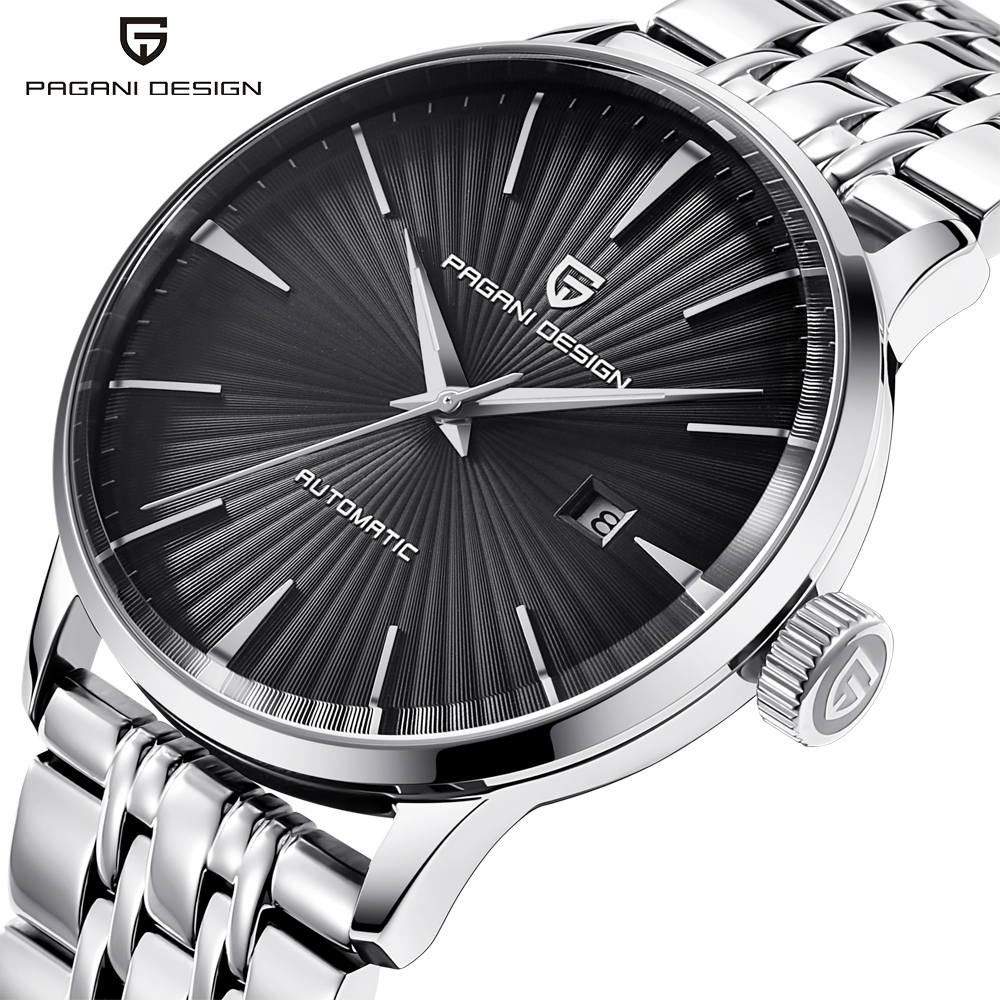 PAGANI DESIGN Luxury Brand Mens Watches Waterproof Stainless Steel Fashion Casual Automatic Mechanical Watch Relogio Masculino excellent quality new brand luxury watch mens automatic skeleton mechanical wristwatches stainless steel relogio masculino