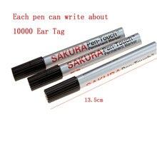 Специальная кисточка для уха для свинья корова овца маркер ручка Водонепроницаемый номер ручки перманентные недеформационные масляные ручки маркер метки