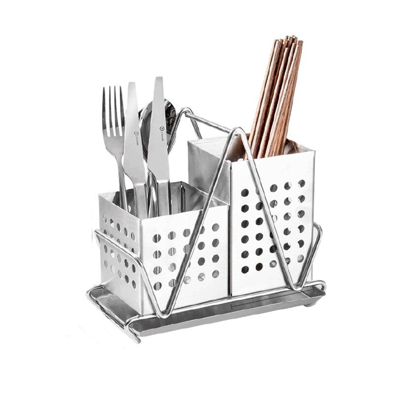 Haute qualité en acier inoxydable baguettes cages cuillère rack étagères support de fourchette renforcé suspendu cuisine rangement couverts organisateur