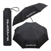 1pcs For Audi Quattro A1 B5 B6 B8 C5 C6 RS RS4 RS5 RS6 A4 A5 A6 A7 A8 TT S4 S3 S5 S6 S7 S8 TTS Q3 Q5 Q7 Car Umbrella Accessories