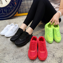 2018 Fashion Korean Sneakers Women Shoes Spring Tenis Feminino Casual Shoes Outdoor Walking Shoes Woman Red Lace Up Ladies Shoes