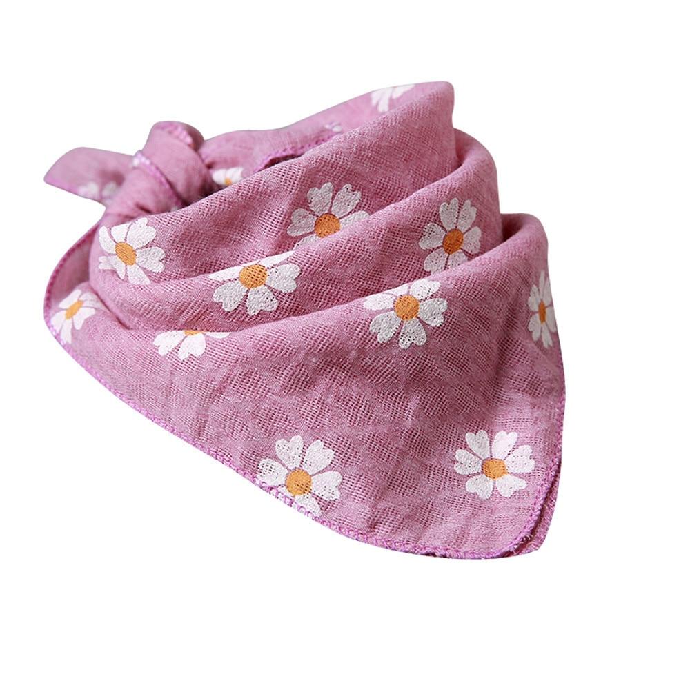 Baby Infants Newborn Soft Cartoon Floral Print Feeding Bibs Saliva Towel Bibs with Feed Saliva Towel Baby Waterproof Cloth