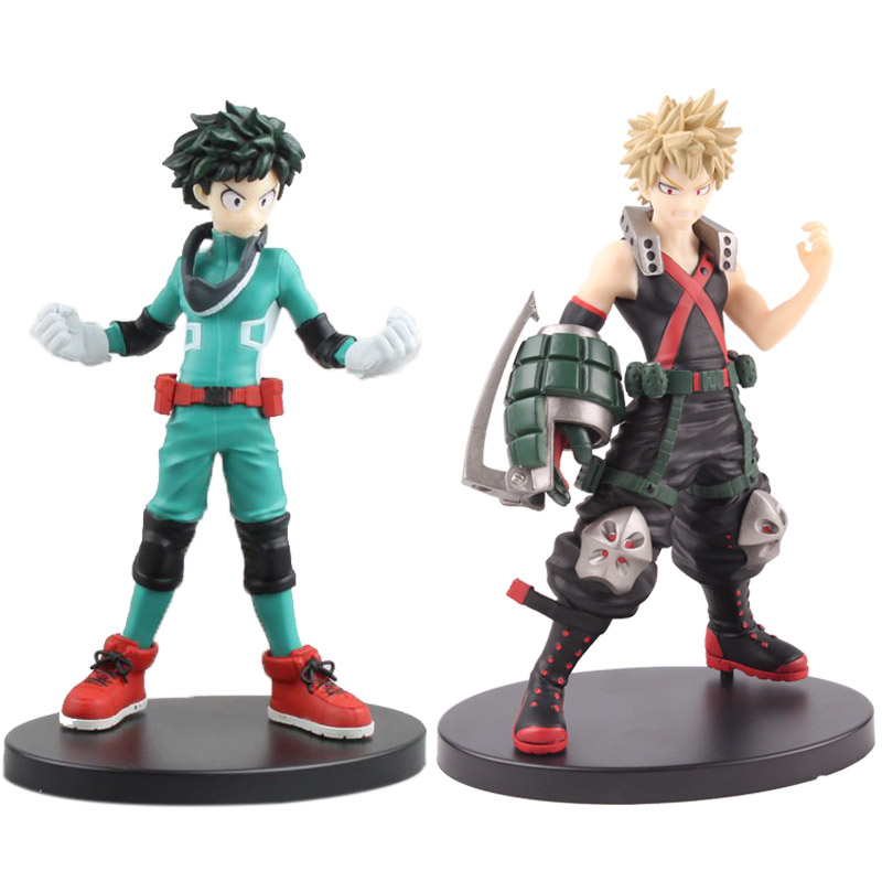 My Hero Academia Figure Midoriya Izuku Katsuki Bakugou Figure PVC Figurine My Hero Academia Collectible Model Toy 17cm все цены