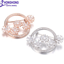 HONGHONG фианит цветок броши шпильки для женщин Высокое качество брошь с растительными мотивами свадебное платье Jewelry интимные аксессуары