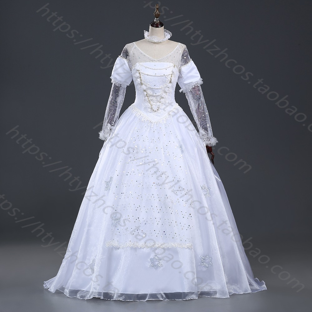 Alice in Wonderland The White Queen Cosplay Fancy Dress girl