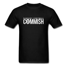 FANTASY FOOTBALLER COMMISH Men's T-Shirt Short Sleeve Casual Printed Tee Size S-2Xl Short Sleeve Tshirt Cotton T Shirts