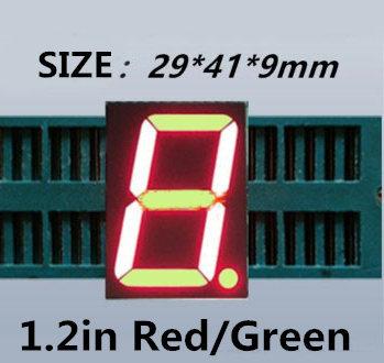 """أحمر أخضر ذو لونين 1.2 بوصة الأزرق 7 الجزء الصمام عرض 1.2 """"في 1 بت أنبوب الرقمية البلاستيك المعادن (nixie أنبوب)"""