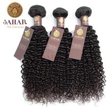 Sahar Brazilian Hair Deep Wave Free Shipping 100% Human Remy Hair Extensions 1/3/4 Pcs Natural Black SHEJW