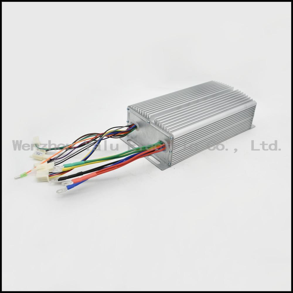 1500W 48V 60V 30Power tube intelligent brushless controller for brushless DC motor with Holzer sensor kbs48101x 40a 24 48v mini brushless dc controller