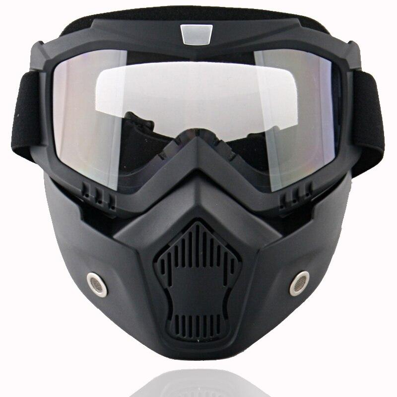 Nouveau Beon lunettes modulaires avec masque/bouclier visière lentille lunettes pour casque ouvert casque de moto/lunettes de motocross