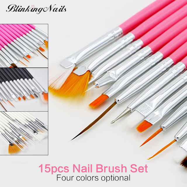 Blinkinnails 15pcs Nail Brush Sets Of Nail Brushes Nail Art Tool