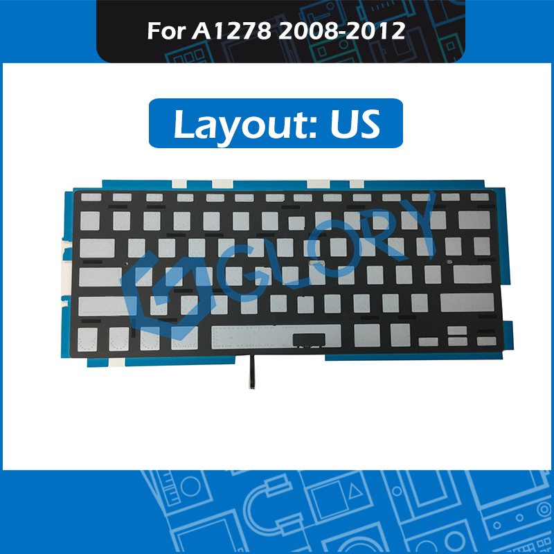 For font b Macbook b font Pro 13 Unibody A1278 Keyboard Backlight Backlit Replacement US Layout
