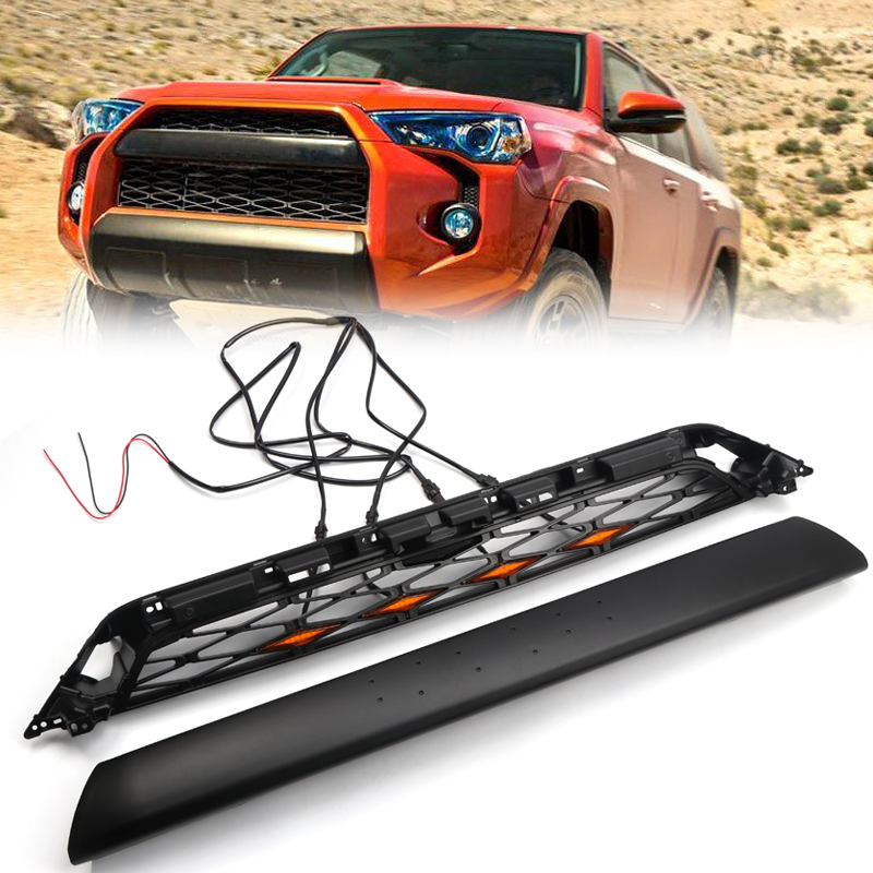 Fit For Toyota 4Runner TRD Pro 2014 2015 2016 2017 2018 2019 Black Car Front Bumper Grille Grill Replacement 2PCSFit For Toyota 4Runner TRD Pro 2014 2015 2016 2017 2018 2019 Black Car Front Bumper Grille Grill Replacement 2PCS