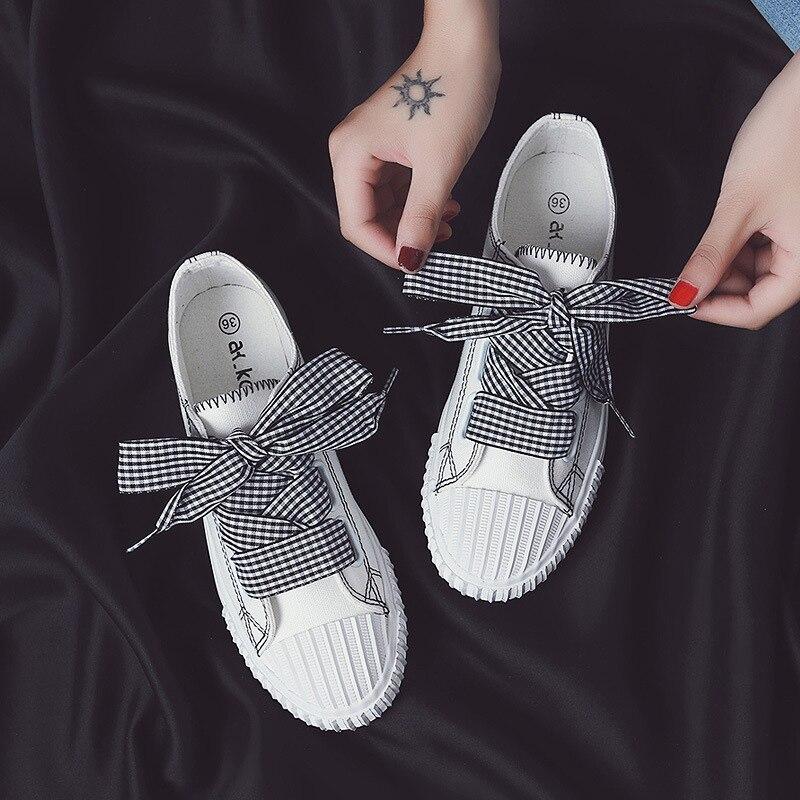 Canvas Shoes Ribbon New And Summer Casual Spring Wild NAN JIU 3-Colors
