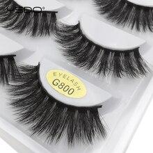 YSDO 5 pairs thick eyelashes dramatic fluffy lashes faux cilios false all hand made makeup fake mink