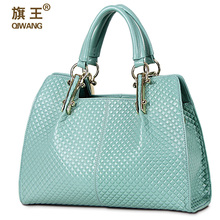 QIWANG Loved Vogue Genuine Leather Women Bag Plaid Design Famous Brand Quality Leather Handbags Quilted Fashion Ladies Hand Bags