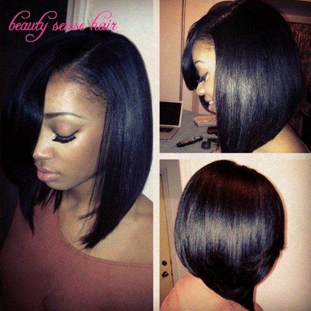Beautiful Short human hair wigs Glueless Silk Top full lace wigs ...
