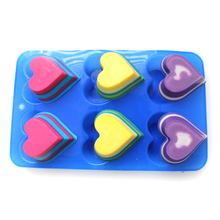 Silicone Soap Mold Heart Shape Chocolate Candy Molds Cake Baking Pan Tray DIY Jelly Pudding цены