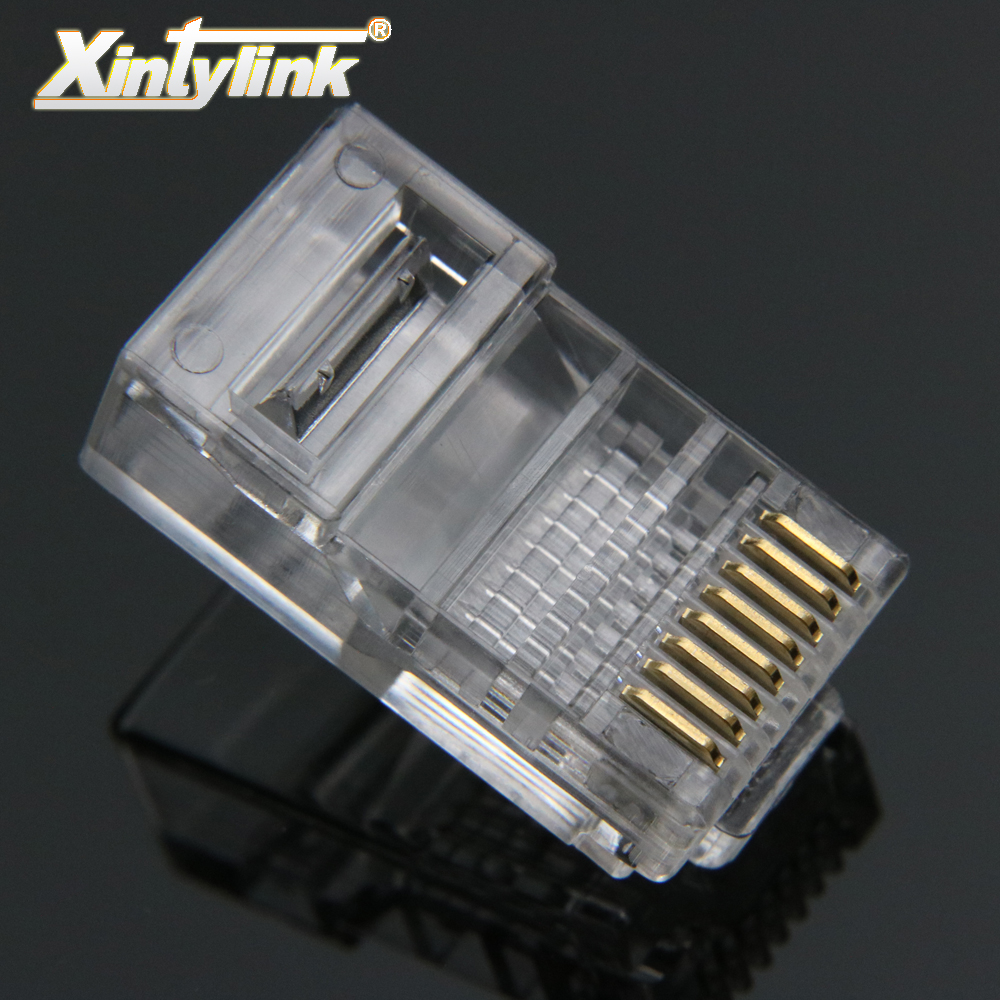 xintylink rj45 connector ethernet cable rj 45 Plug Cat5 Cat5e 8pin utp unshielded Network Modular terminals 8p8c 50pcs 100pcs