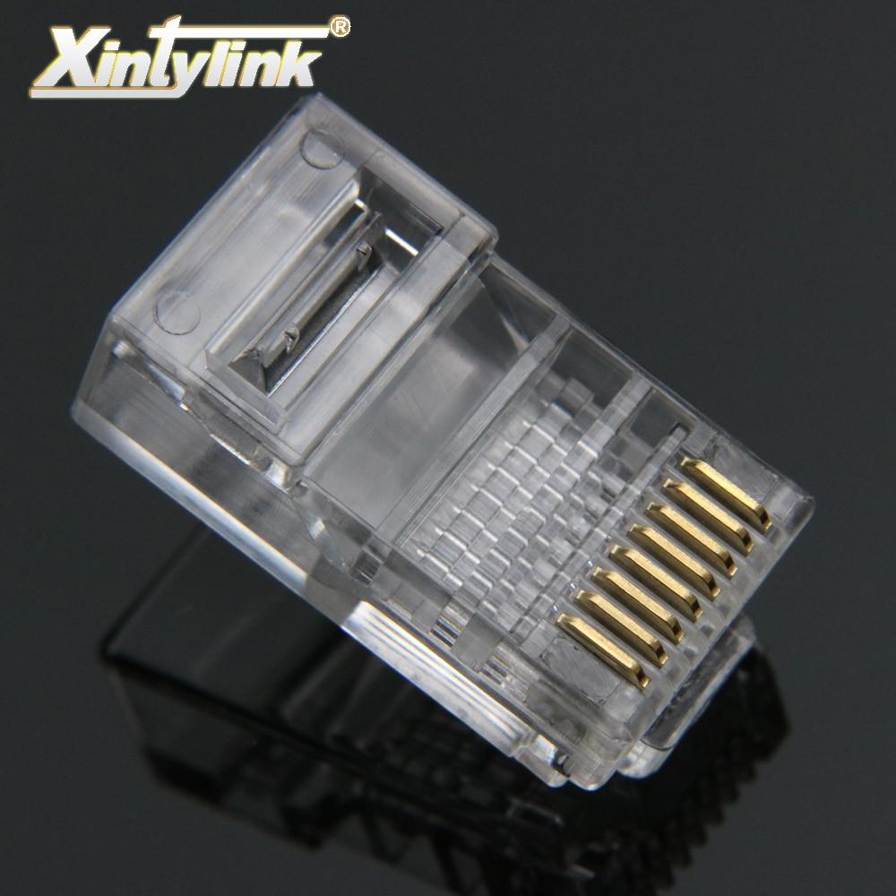 xintylink rj45 connector ethernet cable rj 45 Plug Cat5 Cat5e 8pin utp unshielded Network Modular terminals 8p8c 50pcs 100pcs