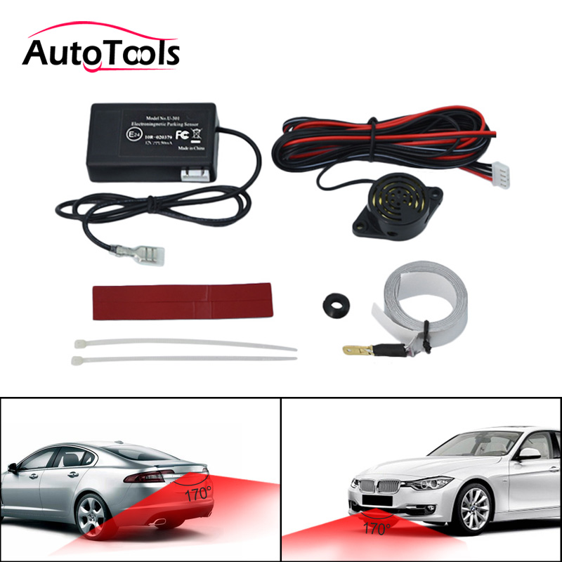 New Electromagnetic Car Parking Sensor Buzzer With Switch No Need Holes No Drilled Electromagnetic Auto Car Parking Sensor U301