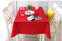Thick solid color hotel tablecloth restaurant rectangular coffee table pure background cloth