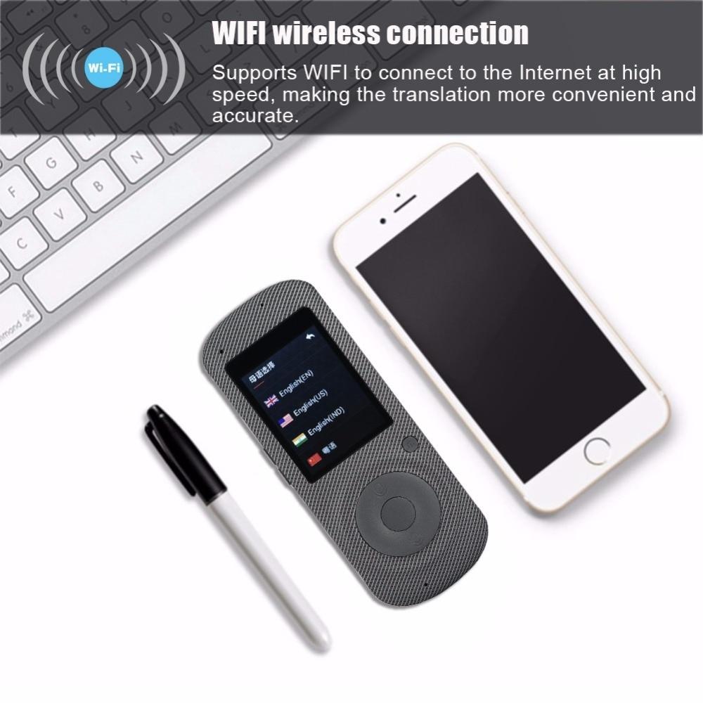 2.4 Inch Touch Screen WiFi Portable Intelligent Voice Translator Two-Way Real Time Multi-Language Translation Pocket Translator