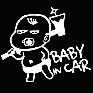 Image 2 - Car Styling Lovely Funny JDM Child Boys Baby In Car On Board Car Sticker For Window Bumper Camping Cute Vinyl Decal