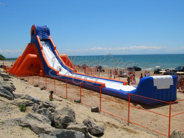 Praia gigante Corrediça de Água Inflável Para O Negócio de Aluguel E Parque Aquático
