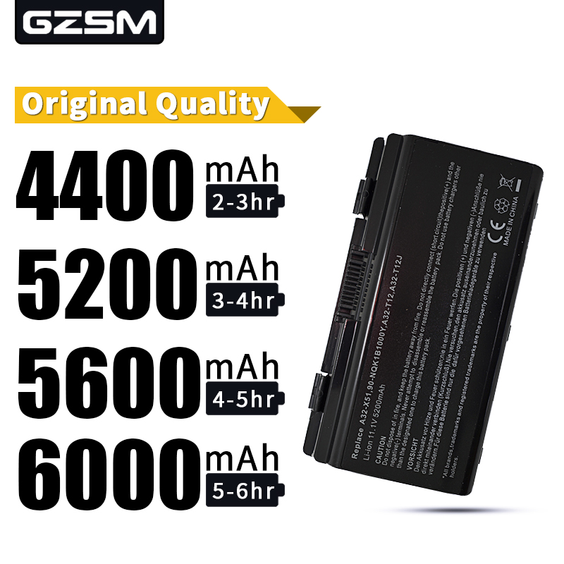HSW 5200mAh laptop battery for Asus 90 NQK1B1000Y A31 T12 A32 T12 A32 X51 T12 T12C T12Er T12Fg T12Jg T12Mg T12Ug bateria in Laptop Batteries from Computer Office