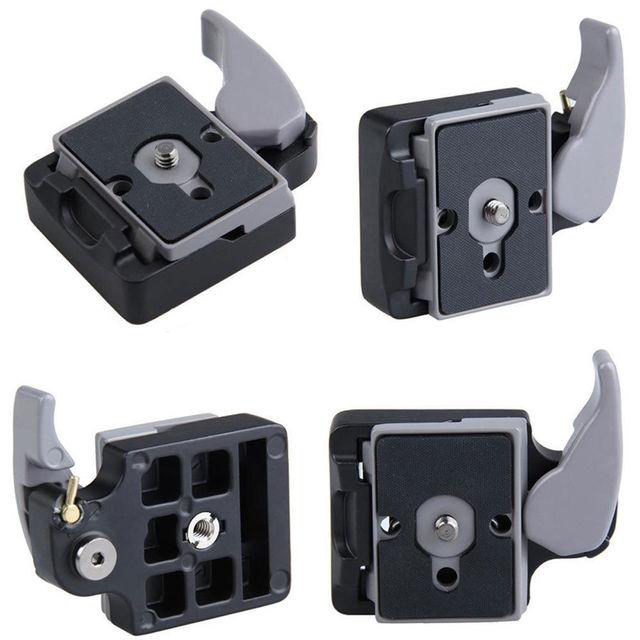 Neue Kamera 323 Schnellspannklemme Adapter + Schnellwechselplatte Kompatibel für Manfrotto 200PL 14 Compat Platte