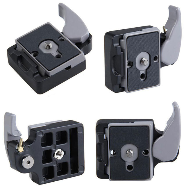 New Camera 323  Release Clamp Adapter + Quick Release Plate Compatible for Manfrotto 200PL 14 Compat Plate