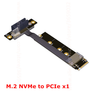 Elbow M.2 NVMe адаптер для PCI-E 1x pcie 3,0x1 Riser card Riser Gen 3,0 кабель M2 NGFF M-key pci express угол 8G/bps 1FT 30 см