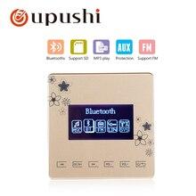 В стене усилитель bluetooth oupushi умный дом сенсорная панель, Bluetooth цифровой стерео усилитель для семейной музыкальной системы