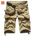 2016 Новые летние мужчины военных грузов шорты бермуды masculina джинсы мужские мода sreetwear мешковатые шорты-карго (без ремня)