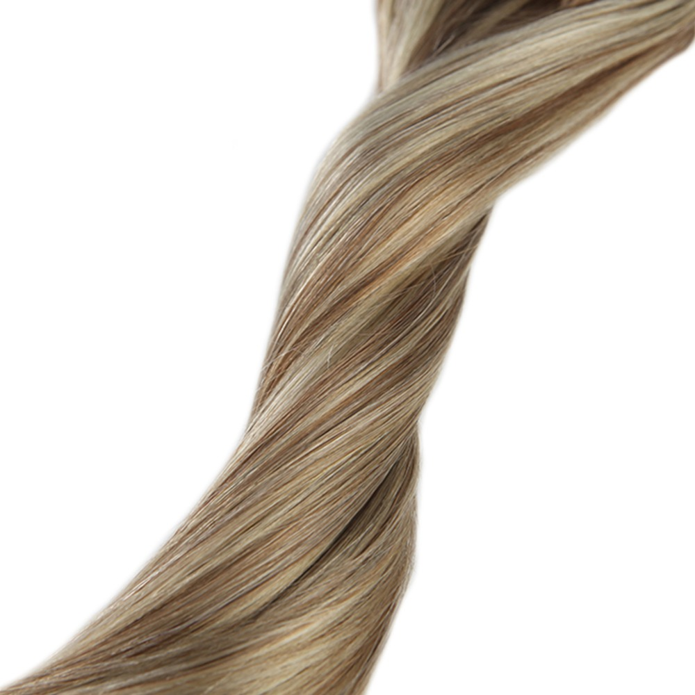 Full Shine 9Pcs Blonde Highligted Double Weft Clip In Human Hair Extensions 100g 100 Machine Remy Extensions Color 10 and 613