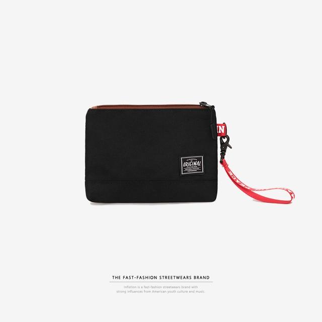 Инфляции 2018 Csaual клатч мешок денег Мода Для мужчин портмона квадратный мешок руки черный бумажник мешок мобильного телефона 172AI2018