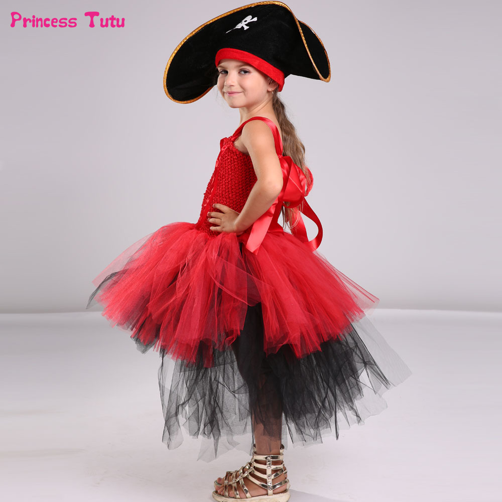 Pirate Tutu Dress Girls Cosplay Pirates Of The Caribbean Jack Sparrow Halloween Costume For Kids Birthday Carnival Party Dresses boys iron man cosplay halloween costume ironman super hero carnival kids boy cool muscle the avengers costumes birthday gift